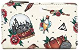 Harry Potter Loungefly - All Over Mujer Cartera Standard, Semi Piel,