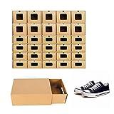 WUPYI2018 Caja de almacenamiento de zapatos, apilable, zapatero, caja de cartón, organizador (20 unidades)