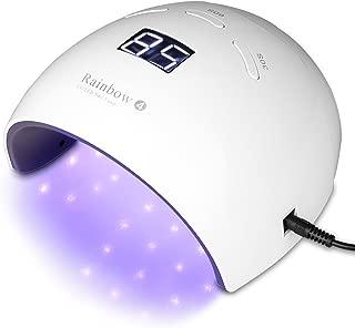 Transy Nail Lamp, 48W UV LED Nail Dryer with Sensor and 3 Timer Setting for Fingernails and Toenails Gel Nail Polish (Rainbow 4)