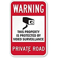 ヴィンテージスタイルのノスタルジックな広告の壁サイン、ビデオ監視私道B、マウントサイン装飾壁アートホーム屋内屋外ヤードサインのためのノベルティアートサイン