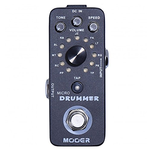 Mooer Audio Micro Drummer Digital Drum Machine Pedal