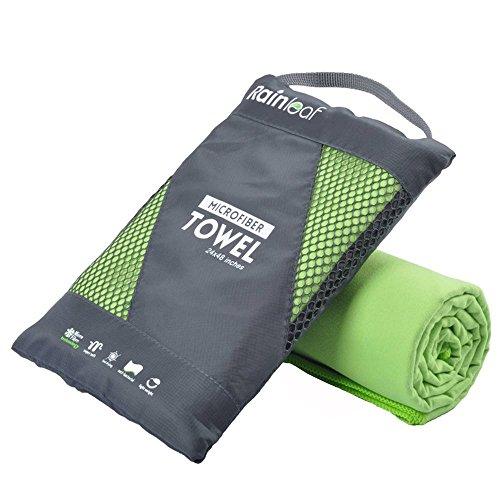 Rainleaf Microfiber Towel,Green,20 X 40 Inches