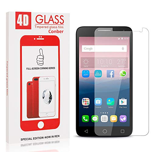 Conber Screen Protector for Huawei Ascend Y550, (1 Pack) 9H Hardness Tempered Glass Film Screen Protector for Huawei Ascend Y550 [Shatterproof][Scratch-Resistant]