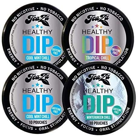 TeaZa Chillax to The MAX Bundle Herbal Snuff - Great Tasting & Refreshing Chewing Alternative - 4 Count