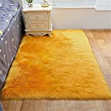 RUGMYW Absorción De Humedad alfombras de habitacion Naranja más Pelusa Larga Alfombra Pasillo Alfombra Oveja 60X120cm