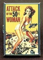Attack of the 50Foot Woman両面シガレットケース、IDホルダー、財布with RFID盗難保護