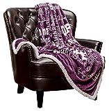 Chanasya Hope and Faith Prayer Inspirational Message Gift Throw Blanket - Posivite Energy Love Comfort Caring Cozy Thoughtful Uplifting Healing Gift for Best Friend Women Men- Purple Aubergine Blanket