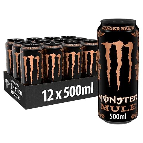 Monster - 12 latas de bebida energética Mule Ginger Brew de 500 ml