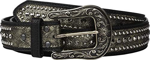 Ariat Metallic Rhinestones Buckle Belt Black XL (42' Waist)