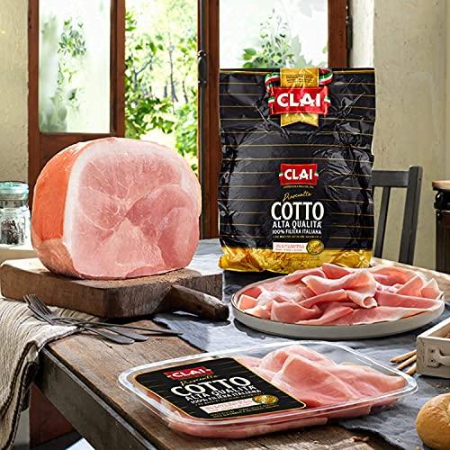 CLAI - Prosciutto cotto alta qualità 4,5 kg - Carne 100% italiana