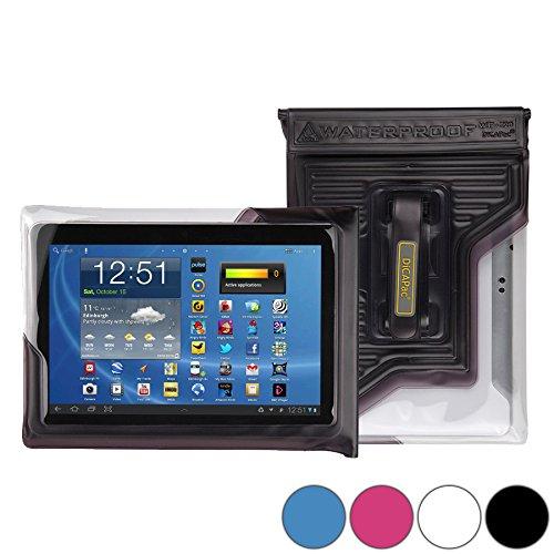 DiCAPac WP-T20 Universelle, wasserdichte Hülle für Asus Memo Pad FHD 10 (ME302C, ME302KL) Tablets in Schwarz (Doppel-Klettverschluss, IPX8-Zertifizierung zum Schutz vor Wasser bis 5m Tiefe; integriertes Luftkissen treibt auf dem Wasser und schützt das Gerät; extraklare Polycarbonat-Fotolinse; integrierte Handschlaufe)