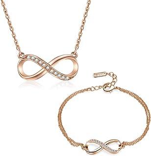 Mestige Rose Gold Infinitely Jewelry Set, 2 Pieces - MSSE3307