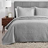 Hansleep Quilt Set Lightweight Bed Decor Coverlet Set Comforter Bedding Cover Bedspread for All Season Use (Grey, Full/Queen)