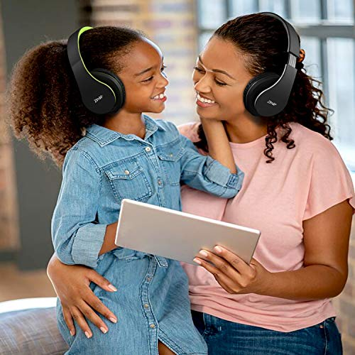 Bluetooth Headphones Over-Ear, Zihnic Foldable Wireless and Wired Stereo Headset Micro SD/TF, FM for Cell Phone,PC,Soft Earmuffs