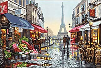 LGXINGLIyidian Rompecabezas para Adultos 1000 Piezas Paisaje Romántico De París, Francia 3D Modern Art Gift DIY Wood Jigsaw Puzzle Toy