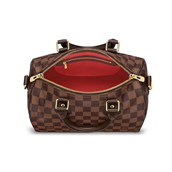 Fashion Shopping Louis Vuitton Damier Ebene Canvas Speedy Bandoulière 25 Article: N41368 Made in