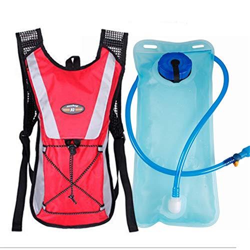 VLUNT HOME Sac D'hydratation Gilet D'hydratation Sac à Dos De Bouteille d'eau Respirant Léger pour Le Cyclisme en Plein Air, Escalade avec Vessie D'hydratation 2L (RE)