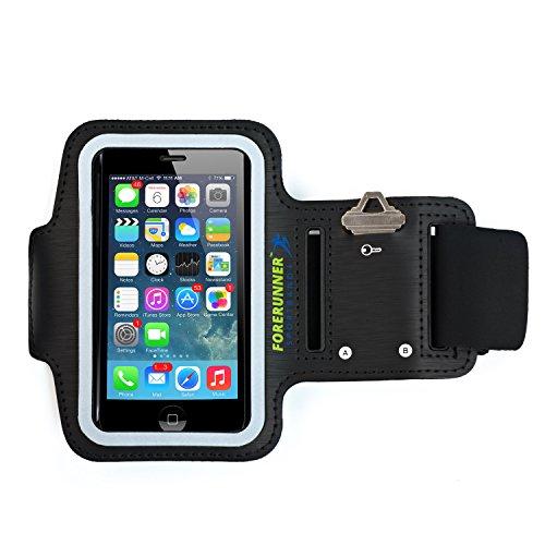 Forerunner Sportband +153; iPhone 5 brazalete con dos puertos adicionales para escuchar auriculares – Ranura ampliada para llaves más grandes – funciona con iPhone 5/5S/5C & el iPod Touch 5