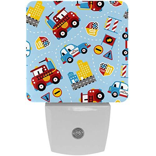 Lámpara LED de luz nocturna con diseño de dibujos animados para coche, con sensor de movimiento automático del atardecer al amanecer, apto para dormitorio, baño, escaleras, cocina, pasillo