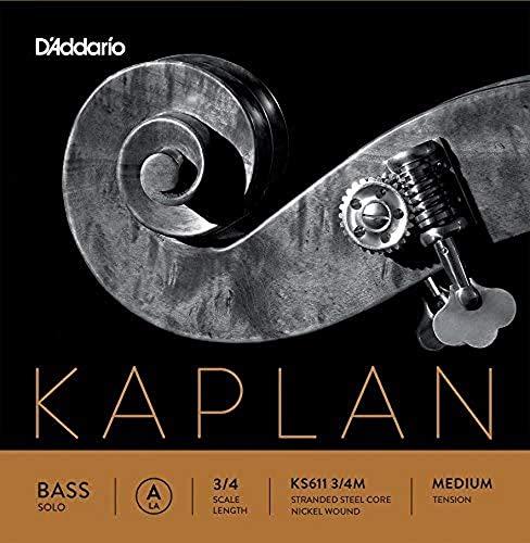 D'Addario Kaplan Solo. Cuerda A para contrabajo, escala 3/4, tensión media