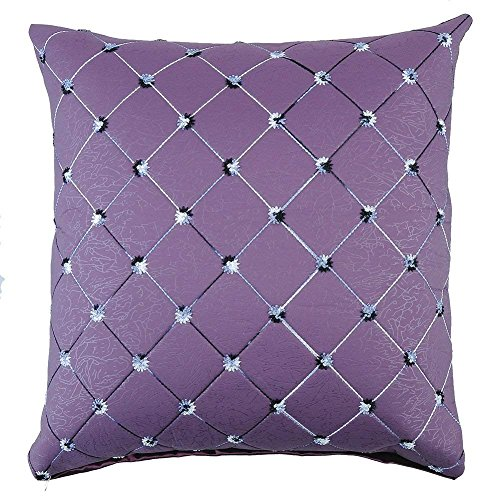 FPcustom Imitation Leather Style Throw Pillow Cover 18X18Cushion Cover Diagonal Striped Decorative Pillow Covers