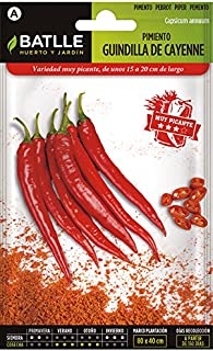 comprar comparacion Semillas Hortícolas - Pimiento Guindilla de Cayenne rojo - Batlle