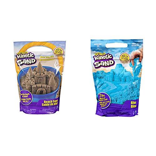 Kinetic Sand 6028363 - Beach Sand 1,4 kg & 6047183 - 907 g Beutel blau