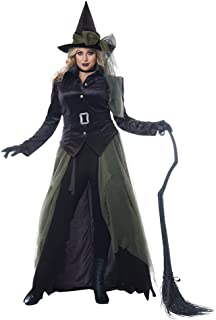 Womens Plus Size Gothic Witch Halloween Costume Black