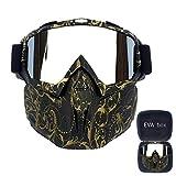 FMC Motocross Goggles, Motorrad-Sonnenbrille Staubbrille Removable Goggles Winddichtes, Gesichtsmaske für Outdoor Off-Road Motocross Bike,K