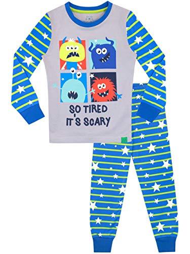 Harry Bear Jungen Monster Schlafanzug Slim Fit Blau 110