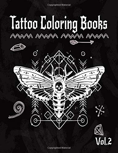 Tattoo Coloring Book: A Coloring Pages For Adult Relaxation With Beautiful Creative Modern Flash Tattoo Designs Classic Style Such As Sugar Skulls, ... and Awesome More! (Body Art & Tattoo, Band 2)