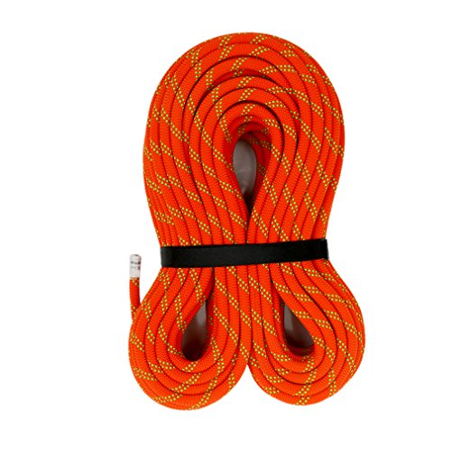 M MUDFOG UIAA Certified 150ft Kernmantle Orange Static Rope 11mm  for Rock Climbing Rappelling Canyoneering Rescue Hauling and Mountaineering