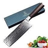 YARENH Couteaux Japonais 17 cm nakiri Couteau Cuisine Professionnelle Global malette Couteaux de Cuisine Professionnel de Poche Lame Damas Couteau de Boucher Professionnel