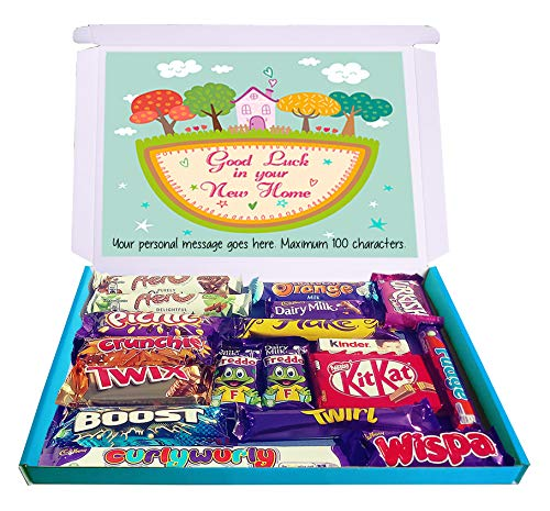 Personalised Good Luck in Your New Home Large Gift Hamper Chocolate Selection Box