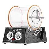 OrangeA Jewelry Polisher Tumbler 5Kg Capacity Mini Rotary Tumbler Machine with Timer Jewelry Polisher Finisher for Jewelry Stone (5 Kg Capacity)
