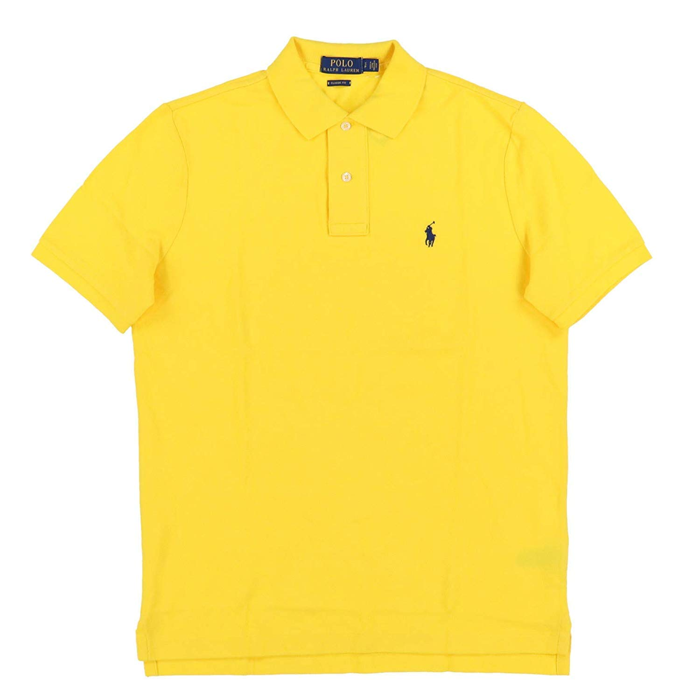 Best Buy Polo Ralph Lauren Mens Classic Mesh Polo Shirt (L Bright Yellow) Reviews
