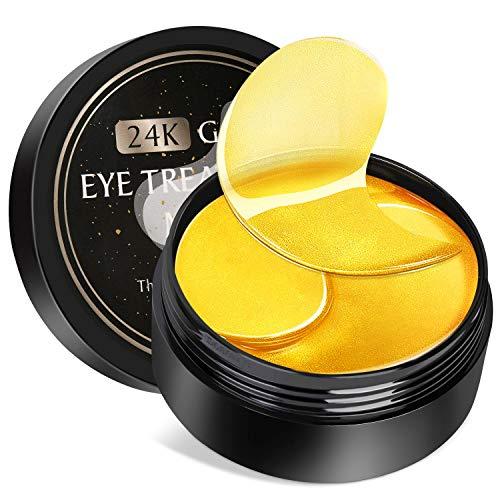 Augenpads Eye Mask, Kastiny 30 Pairs Anti Aging Augenpads Maske, 24K Gold Collagen Pads Maske für Augenringe, Puffy Eyes Taschen & Falten