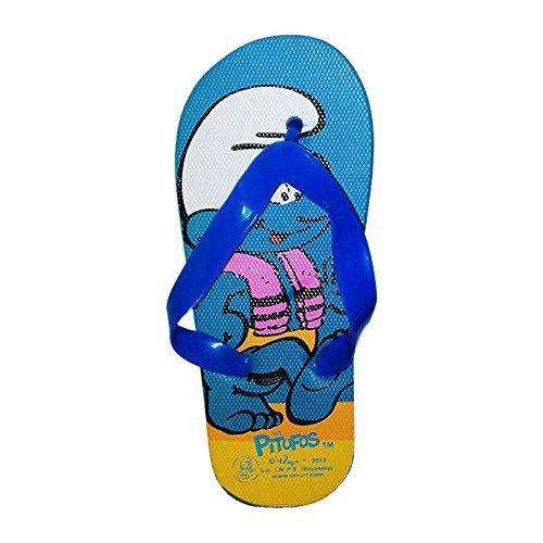 2301000547 - Tong - Sandale Garcon SCHTROUMF en caoutchouc bleu - 24