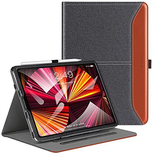 ZtotopCases Custodia per la nuova custodia per iPad Pro 11 2021, con funzione sleep   wake automatica, angoli di visione multipli, adatta per iPad Pro 11 2021 di terza generazione, Denim Nero