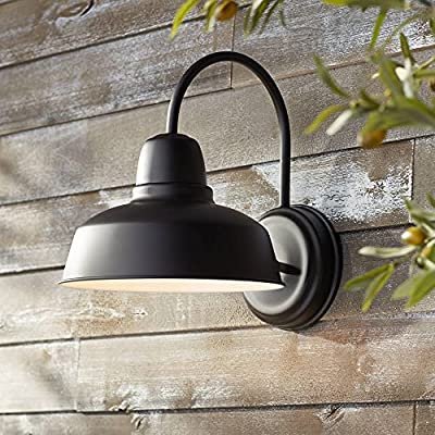 "Urban Barn Rustic Outdoor Light Fixture Farmhouse Black 13"" for Exterior House Porch Patio - John Timberland"