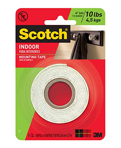 Scotch Mounting 114/DC Fastening and Surface Protection 5555 3 Inch 1 Inch x 50 Inches, White