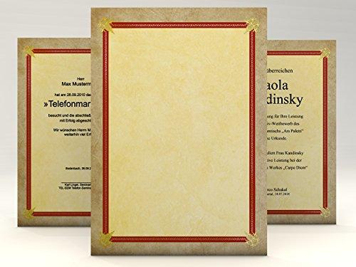 Urkundenpapier Success, 10 Blatt für Zertifikate DIN A4, 190g/qm