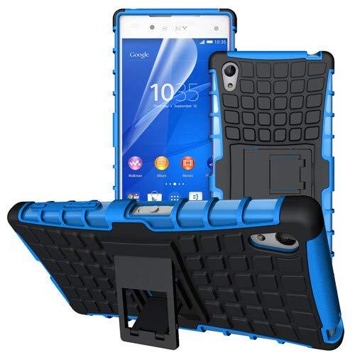 betterfon   Outdoor Handy Tasche Hybrid Hülle Schutz Hülle Panzer TPU Silikon Hard Cover Bumper für Sony Xperia Z5 Blau