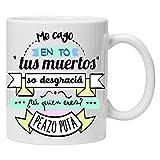 Taza Blanca me CAGO en to, Regalo Original Amigas y colecionistas