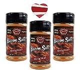 J&D's Original Bacon Salt (3 Pack + Sticker) - Low Sodium Bacon Flavored Seasoning Salts + Bacon Heart Sticker