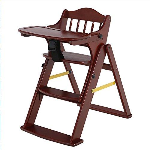 Tabouret en bois Tabouret réglable en bois solide de bébé/enfants dinant des chaises/tabouret se pliant multifonctionnel (Couleur : #1)