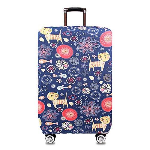 スーツケースカバー 伸縮素材 高弾性生地 キャリーカバー 汚れ防止 キズ保護 防塵仕様 海外旅行 出張に適用 洗える ラゲッジカバー