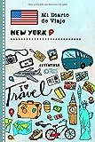 New York Diario de Viaje: Libro de Registro de Viajes Guiado Infantil - Cuaderno de Recuerdos de Actividades en Vacaciones para Escribir, Dibujar, Afirmaciones de Gratitud para Niños y Niñas