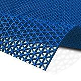 Gummiprodukt: PVC Bodenmatte f/ür Sauna Dusche usw in 90mm oder 120mm Breite und 4 Farben blau, 90cm