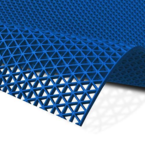Hygienematte Z-Mat | viele Größen | stark rutschhemmend | für Nassbereiche und Arbeitsplätze | Blau - 120x100 cm